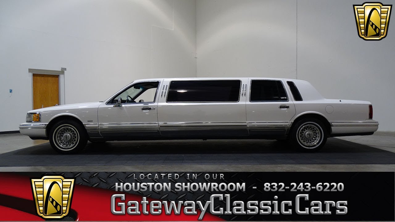 1994 Lincoln Towncar Executive Limo Gateway Classic Cars 807 Houston Showroom Youtube