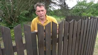 Zrób to sam: drewniane ogrodzenie