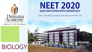 NEET 2020 SOLUTIONS BIOLOGY, DARSANA ACADEMY
