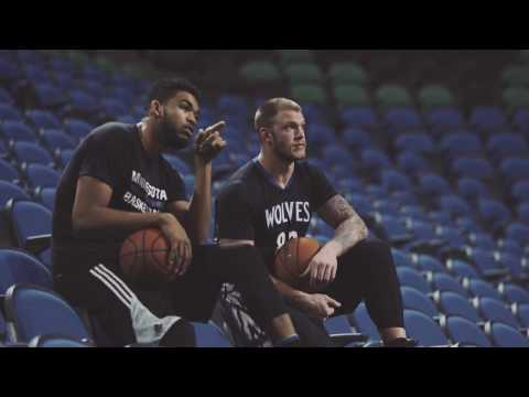 FULL VIDEO: NFL's Kyle Rudolph 'Goes Pro' with NBA's Karl-Anthony Towns