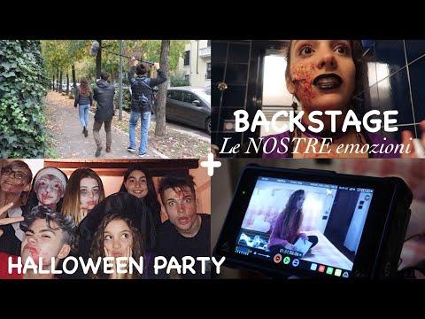 BACKSTAGE LE NOSTRE EMOZIONI + HALLOWEEN PARTY || Vlog 31/10/2018
