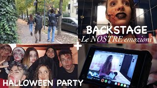 BACKSTAGE LE NOSTRE EMOZIONI + HALLOWEEN PARTY || Vlog 31/10/2018