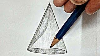Cone    draw Maths Cone   how to draw Maths Cone easy sabkuchforyou