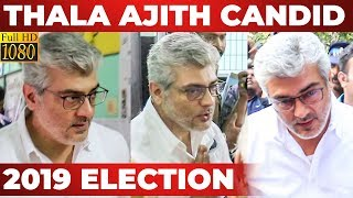 WOW: Thala AJITH Voting FULL VIDEO | Lok Sabha Election 2019