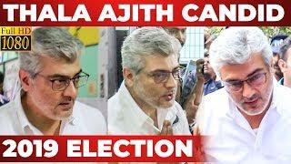 WOW: Thala AJITH Voting FULL VIDEO | Lok Sabha Election 2019