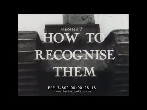 "BRITISH TANKS AND ARMORED VEHICLES WORLD WAR II RECOGNITION FILM  ""FRIEND OR FOE"" 34502"