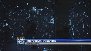 Light, science and technology combine to form interactive ARTECHOUSE exhibit