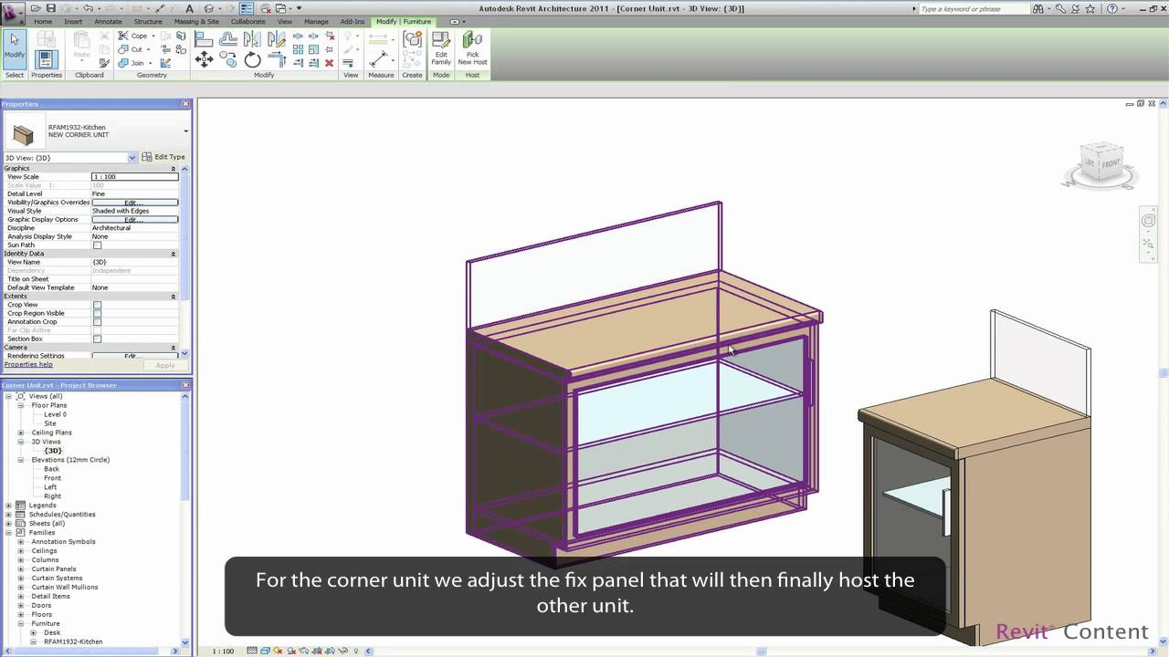 Revit Content All In One Revit Kitchen Family Youtube