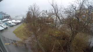 Boston Quincy Houghs Neck March 2018 Flood - Perry Parkhurst Beach Wall Break
