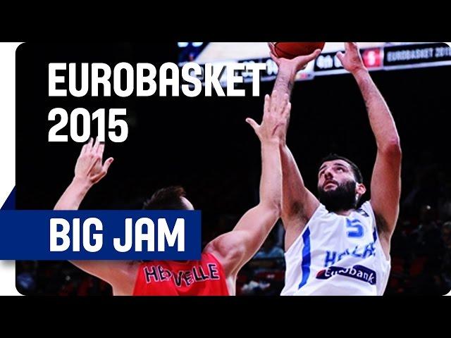 Οι εξαιρετικές στιγμές των Σπανούλη, Μπουρούση και Αντετοκούμπο σε video , απέναντι στο Βέλγιο στην φάση των 16 του EuroBasket 2015