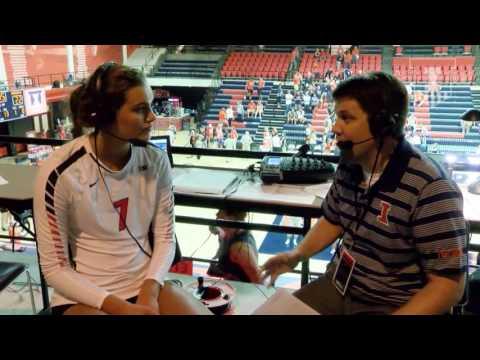 @IlliniVBall 8/26/16 vs ARKANSAS Jacqueline Quade Post-Game