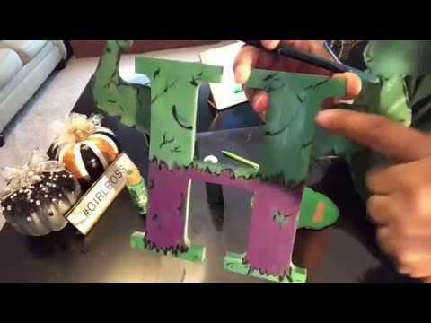 Pt:2 Of DIY Painted 3D Avengers Infinity War Wooden Lettrers For Kids Room (THE HULK) LOL @ Josiah