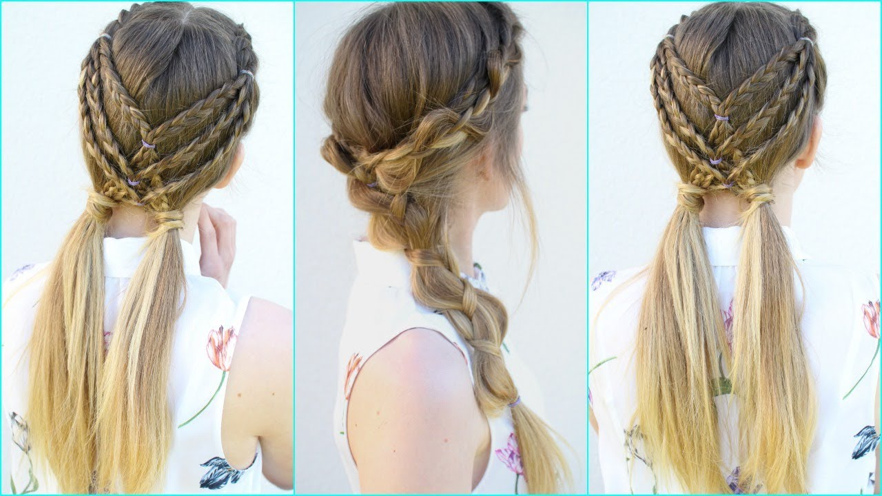 2 Easy Braided Hairstyle Ideas Braided Hairstyles Braidsandstyles12 Youtube