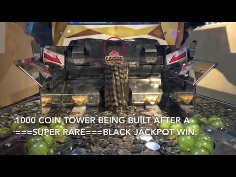 Japanese Coin Pusher : ★★Super Rare★★ Black Jackpot Win! (++explanation of game)