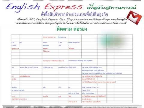 English Express สั่งซื้อสินค้าจากต่างประเทศเพื่อใช้ในธุรกิจ
