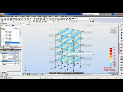 04-1-  Robot Structural Analysis Professional - Multistory Building (5 Stories)