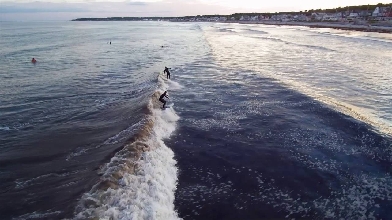 Surfing Drone Footage