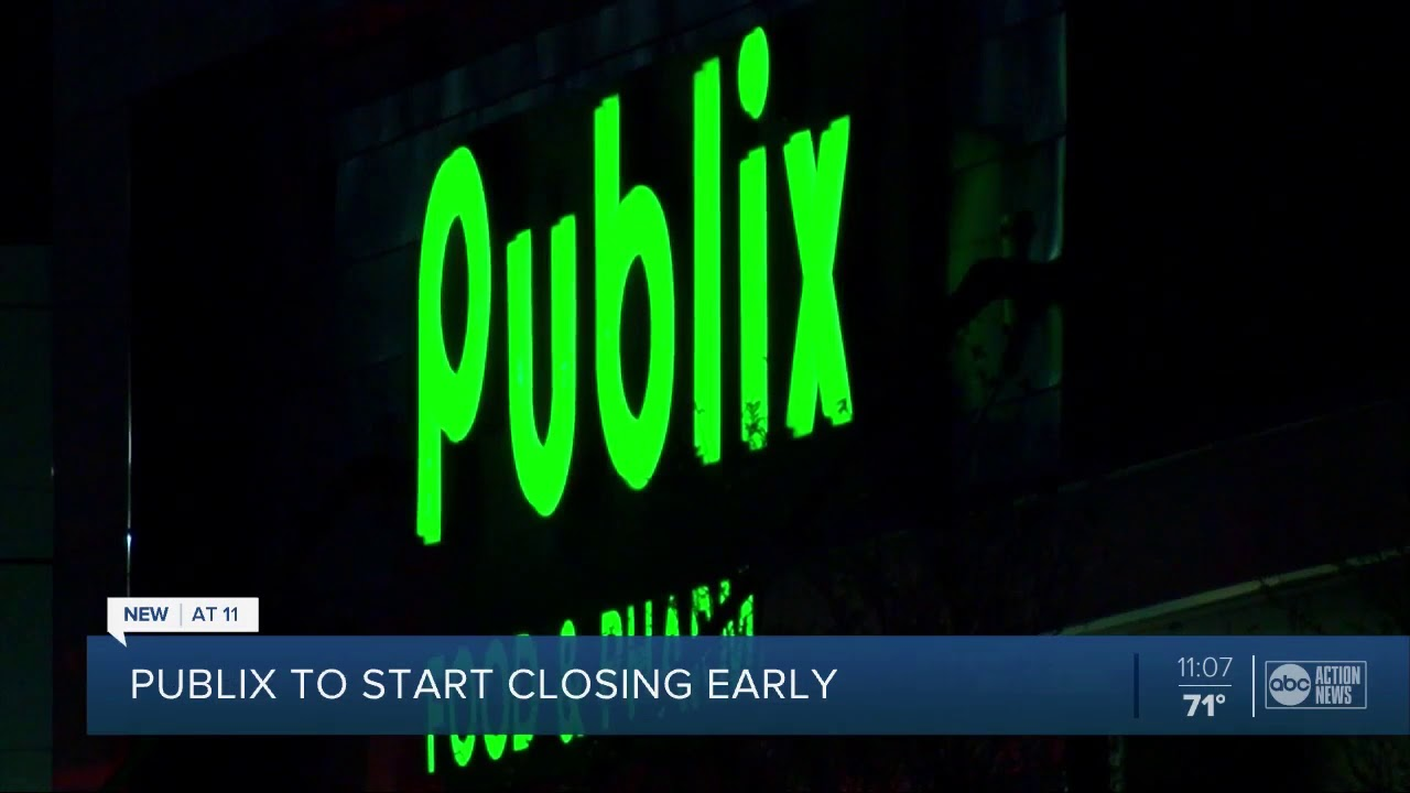 ALL Publix stores now closing at 8 p.m. due to coronavirus concerns