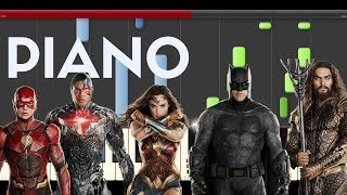 Justice League Theme (Piano Midi Tutorial Sountrack) Liga De la Justicia How to Play