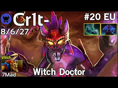 Support Cr1t- [EG] plays Witch Doctor!!! Ward spots shown! Dota 2 7.21