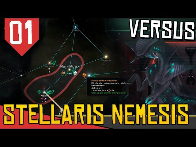 Virando o DESTRUIDOR DA GALAXIA em MULTIPLAYER - Stellaris Nemesis vs Arkantos #01 [Gameplay PT-BR]