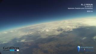 High altitude balloon aircaft flyby