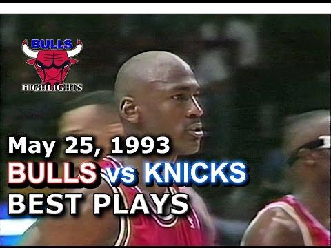 1993 Bulls vs Knicks game 2 HD highlights