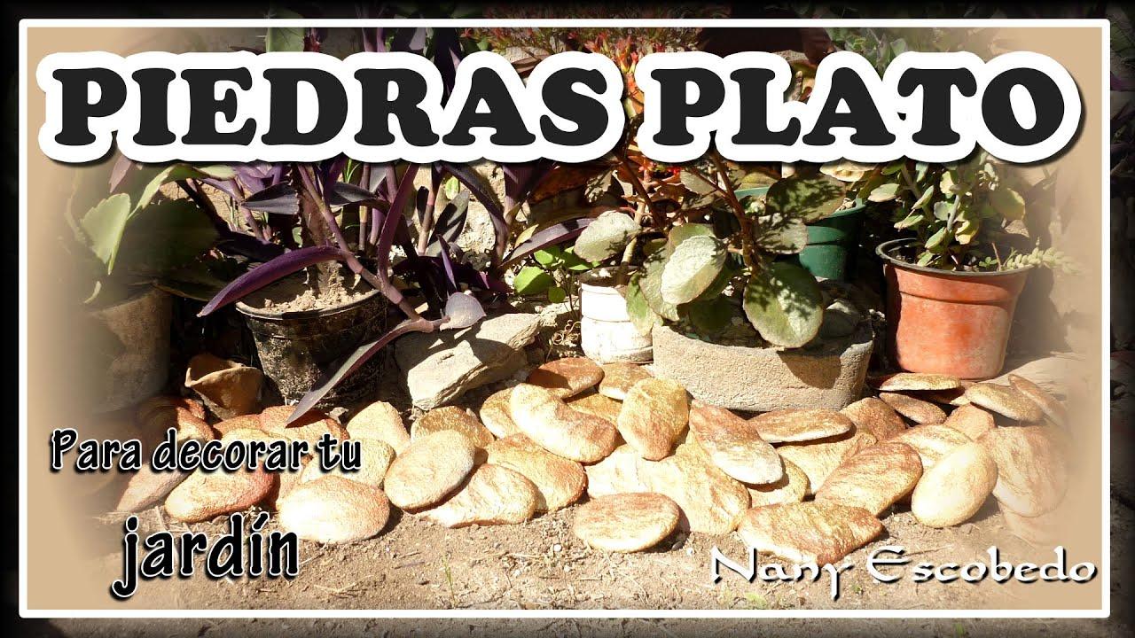 C mo hacer piedras plato para tu jard n youtube for Piedras ornamentales para jardin