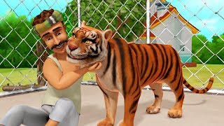The Thankful Tiger | Telugu Stories for Children | Infobells