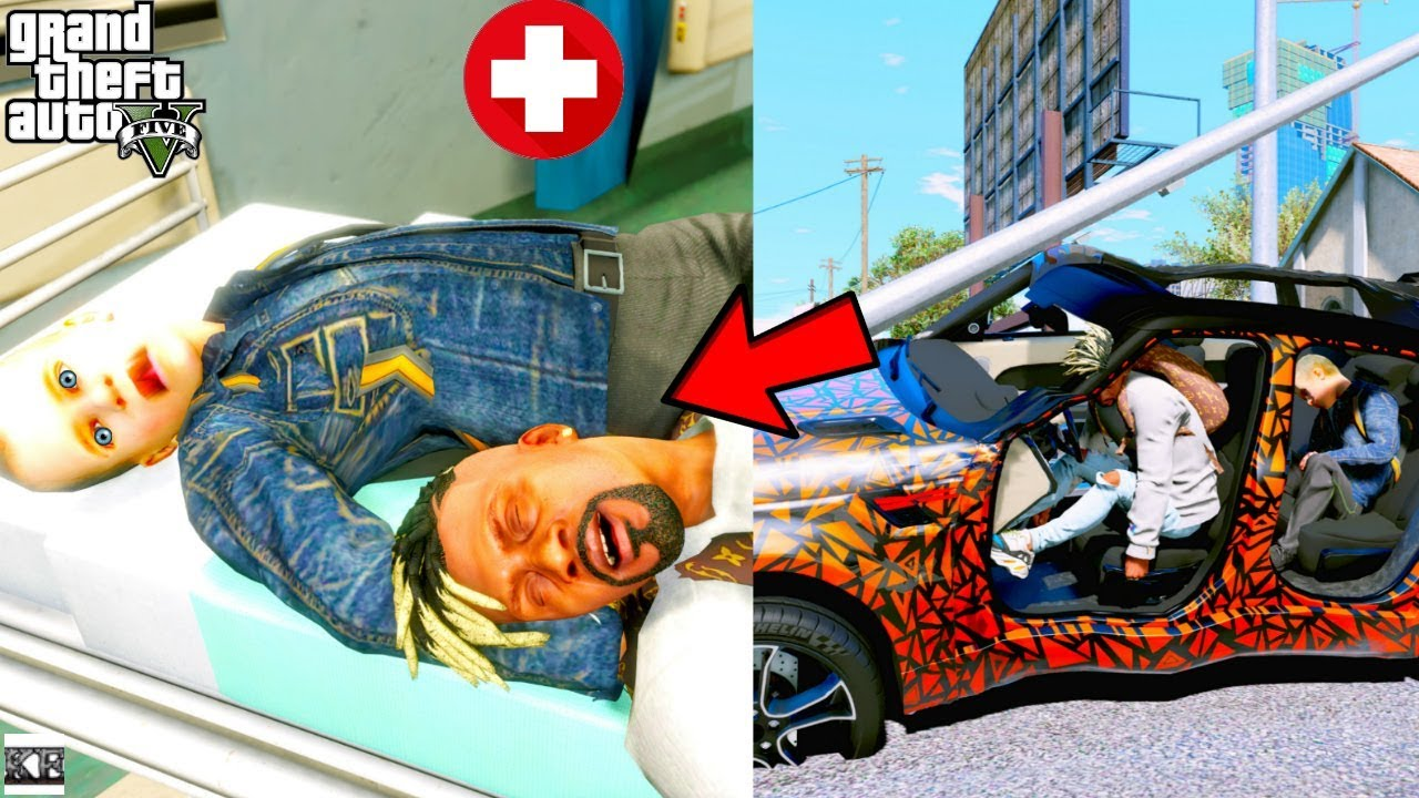 GTA 5- Franklin & Frankie In Hospital After Serious Car