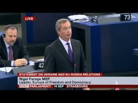 Nigel Farage - EU is guilty of provoking Ukraine crisis (16 Sep 2014)