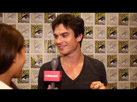 "Vampire Diaries' Ian Somerhalder Says Damon Is ""Trying to Make It Work With a College Girl"""