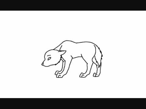 wolf animation on microsoft paint - Wolf Picture Frames
