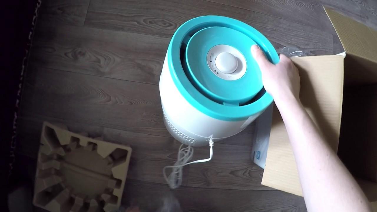 Распаковка увлажнителя воздуха Philips Safe&clean HU4801/01 из Rozetka.com.ua