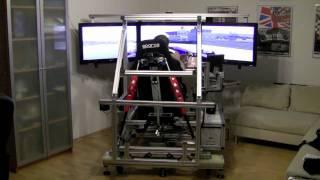 Piez Full Motion Race Car Simulator : Traction Loss Testdrive