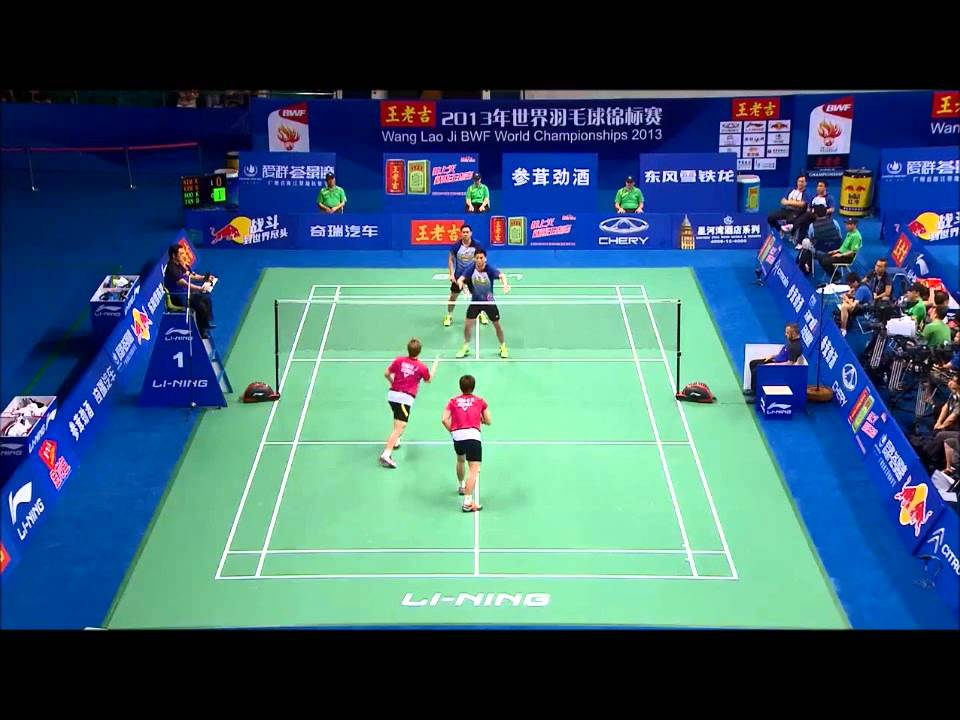 Top 20 doubles rallies bwf world championships 2013 - YouTube