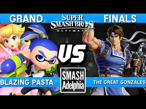 Smash Ultimate Tournament Grand Finals - Pasta (Peach/Inkling) vs Great Gonzales (Richter) - SDA Ult thumbnail
