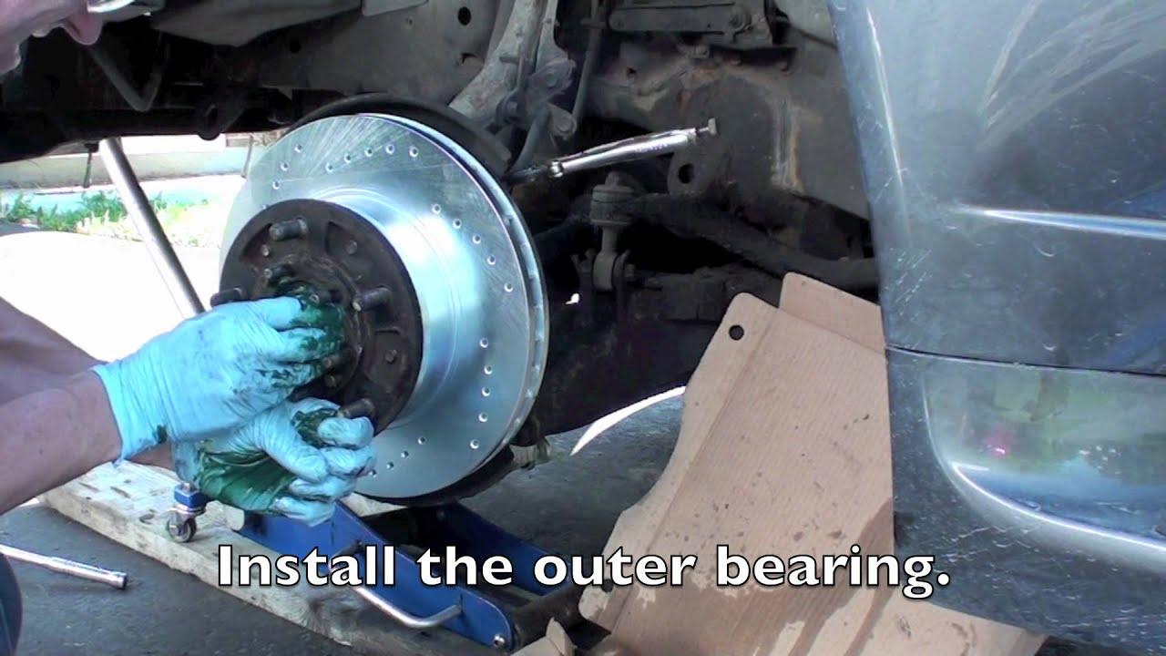 land cruiser lexus front rotor and brake replacement tutorial youtube rh youtube com Installing Rear Brake Pads Brake Pad Anatomy
