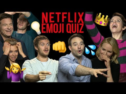 Can Netflix stars guess their own  from Emojis?