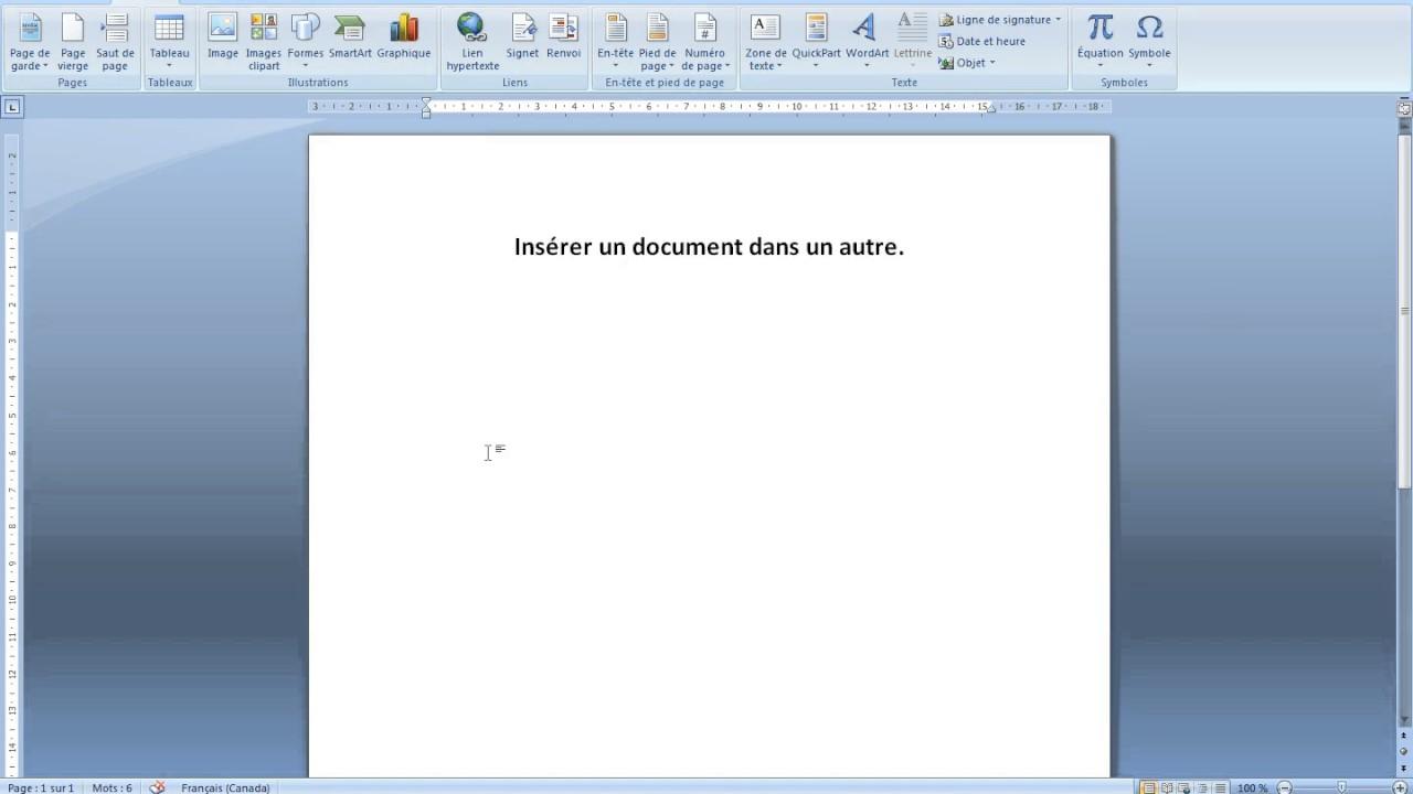 ins u00e9rer un document dans un autre