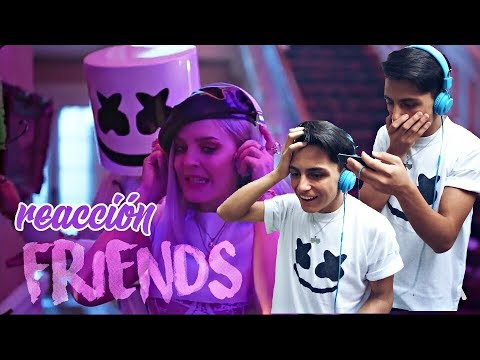 Marshmello Anne Marie Friends Reaction Music Video