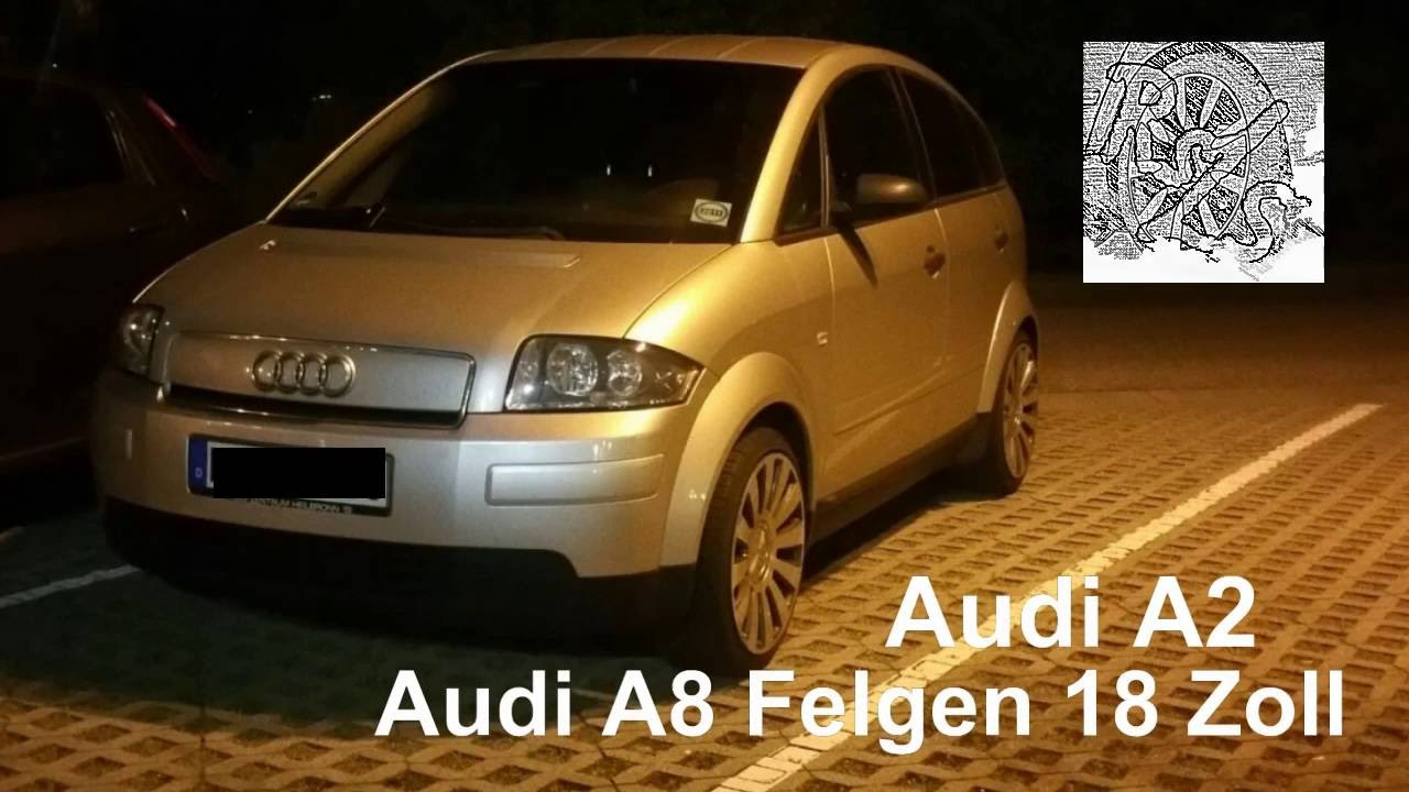 audi a2 18 zoll a8 felgen youtube. Black Bedroom Furniture Sets. Home Design Ideas
