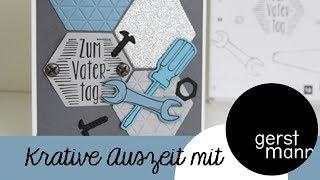 Karte zum Vatertag Stampin Up Stempelset Hammer! und Für ganze Kerle