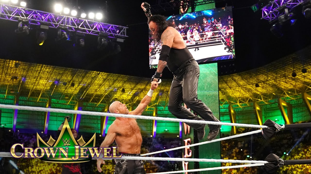 the-undertaker-goes-old-school-against-shawn-michaels-wwe-crown-jewel-2018-wwe-network-exclusive