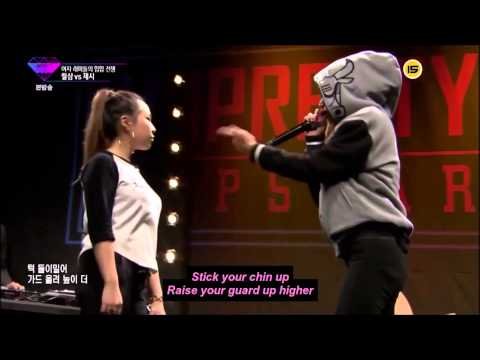 Jessi HO vs Lil Cham ( Unpretty Rapstar ) Battle 2 ENGLISH subs