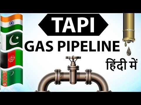TAPI Gas Pipeline Project explained in Hindi - Asian Energy geopolitics , Current affairs 2018