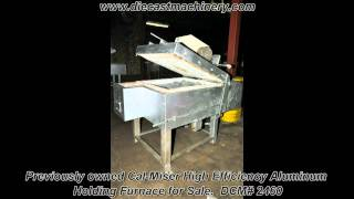 Cal-Miser High Efficiency Aluminum Holding Furnace.  DCM# 2460