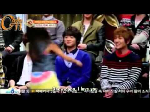 SHINee Onew hugs a lucky girl!