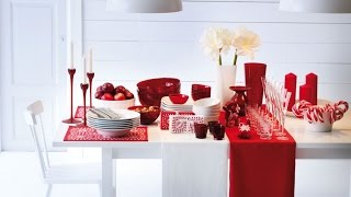 Декор новогоднего стола. В белом, красном и зеленом!!!