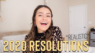 MY REALISTIC 2020 NEW YEARS RESOLUTIONS + GOALS